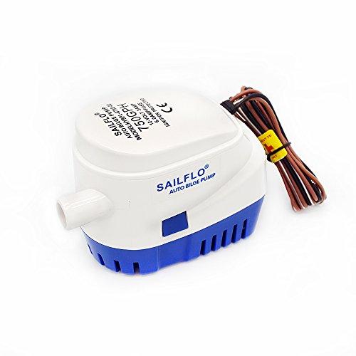 DCHOUSE Bomba de sentina automática de 12 V, 750 GHP, para aguas residuales con interruptor de flotador, utilizada para baño de sentina