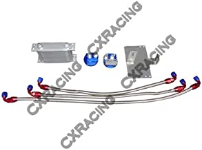 CXRacing Oil Cooler Bracket Relo Sandwich Kit for 79-93 Ford Mustang 5.0 V8