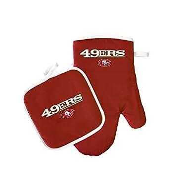 NFL San Francisco 49ers Logo Oven Mitt & Pot Holder, One Size, Red