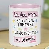 La Mente es Maravillosa - Taza frase y dibujo divertido (Los días grises se vuelven primavera cuando estoy con mi...