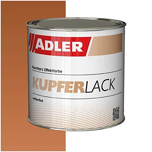 ADLER Kupferlack für Holz & Metall - 375 ml - Innen & Außen - Seidenglänzender Kupfer Effekt - Umweltfreundlich, Wetterfest & Hitzebeständig mit starkem Rostschutz