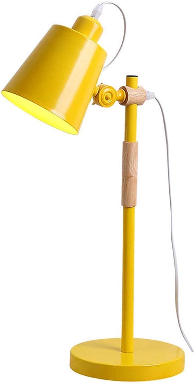 Tischlampe Xiuyun Eisen Schlafzimmer Schlafsaal (Farbe   Gelb, größe   55  18cm) B07K13933D | Attraktives Aussehen