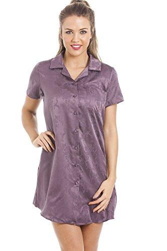 CAMILLE Damen weiches Baumwollmix Jaquard Satin Nachthemd 40
