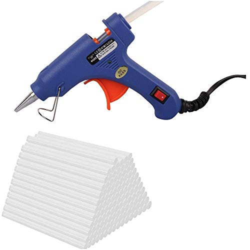 W WADRO - Built with Passion 40W Trigger Feed Leak Proof Hot Melt Glue Gun (Random Gun Color) (28 Sticks)