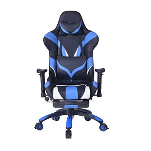 Silla de juego ajustable, silla de oficina con respaldo alto, silla giratoria reclinable, juego de elevación en casa, asiento deportivo, reposapiés