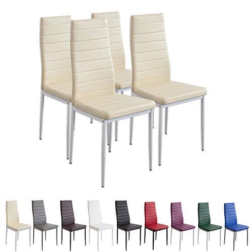 Albatros 2702 Milano Set de 4 sillas de Comedor, Beige