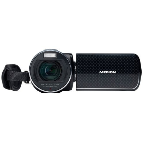 Medion Life Full HD Camcorder X47023 (5 Megapixel, 23-Fach Opt. Zoom, 7,6 cm (3 Zoll) Touchscreen Display, bildstabilisiert) schwarz
