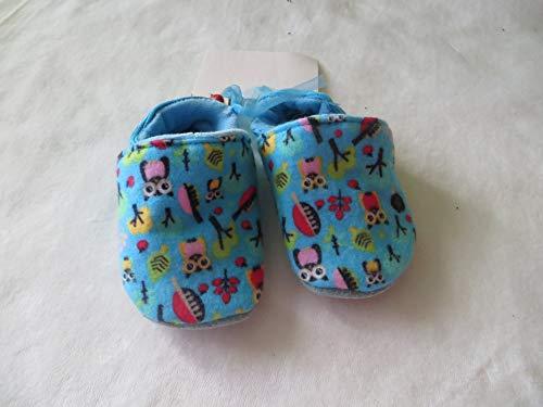 Puschen Schuhe Eule türkis Größe 19, Kinder Hausschuhe
