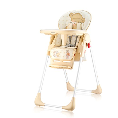 Lowest Prices! HGNbb Multi-function foldable baby high chair, beige portable can lie baby highchairc...