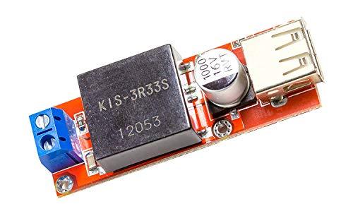 MissBirdler 5V USB DC 7V-24 nach 5V, 3A, KIS3R33S Step Down Spannungswandler für Arduino PIC