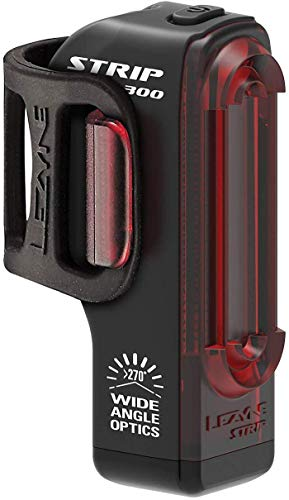 LEZYNE Strip Drive Pro Bicycle Tail Light, 300 Lumens, 53H Runtime, USB Rechargeable, Rear Bike Light, Black