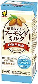 マルサン 毎日おいしいアーモンドミルク砂糖不使用 200ml×24本