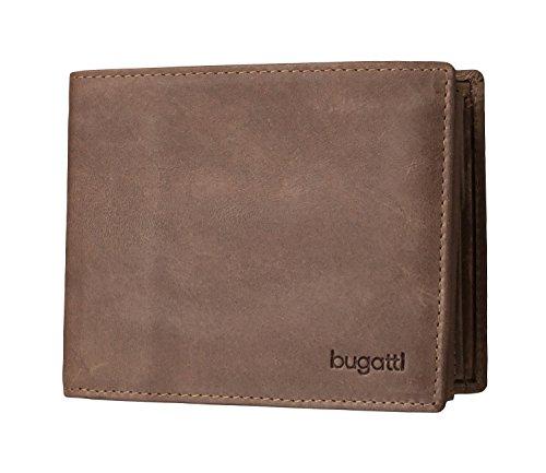 Bugatti Volo Geldbörse Herren Leder – Portemonnaie Herren Querformat Braun – Geldbeutel Portmonee Wallet Brieftasche Männer Portmonaise