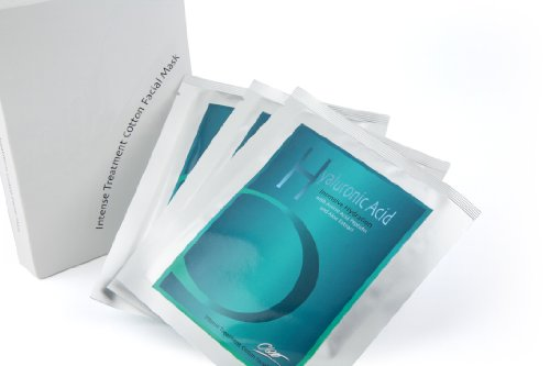 Pack of 3 De-Luxe Anti-Ageing Beauty Face Masks with Hyaluronic Acid, Amino Acids & Aloe - Instant Hydration & Wrinkle Reduction! A Spa Like Facial at Home. Not Tested on Animals