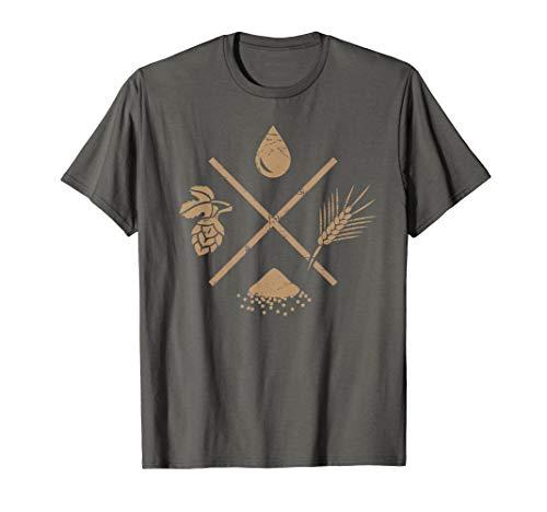 Wasser, Gerste, Hefe, Hopfen | Bier Homebrew T-Shirt