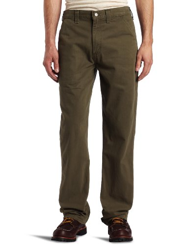 Carhartt Men's Relaxed Fit Washed Twill Dungaree Pant, Army Green, 34W X 32L