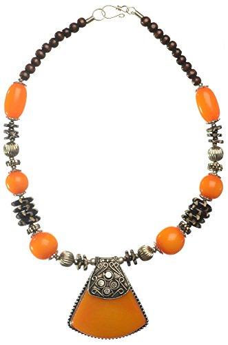 BUDDHAFIGUREN Collana con pietre color ambra - gioielli Ethno