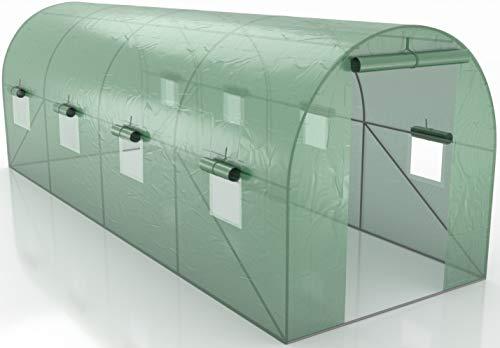 Générique Serre de Jardin Tunnel - bache armée - 12m2, 4x3m - en polyéthylène armée - Anti UV