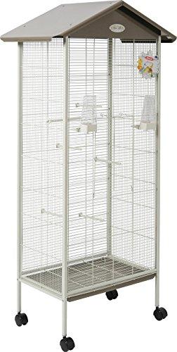 Zolux Jeanne voliera Interna/Esterna per Uccello Esotico/beccucci crochus Oliva 78x 48x 156cm
