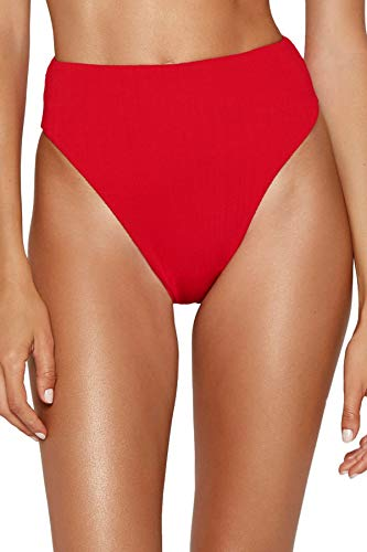 ViX Swimwear Women's Milano Red Pepper Gigi High Leg Bikini Bottom Red L