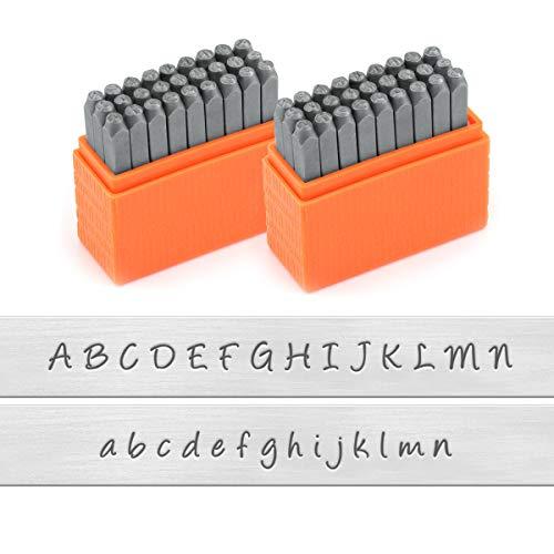 ImpressArt - Basic Bridgette Uppercase and Lowercase Letter Metal Stamps Set, 3MM