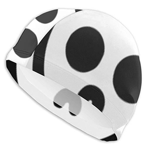 Quintion Robeson Gorra de natación Simple Dibujada del cráneo Gorra de natación de la señora, Gorra de natación del poliéster de la Muchacha Adolescente Adulta de la Personalidad