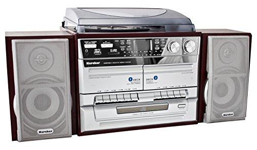 Karcher KA 320 Compacte installatie (CD-speler, dubbele cassettedeck, platenspeler, USB, SD-kaartlezer, radio, afstandsbediening)