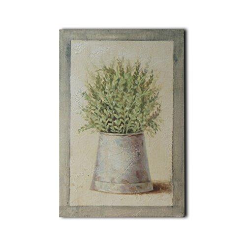 CVHOMEDECO. Basrelief Peinture à la main sur cadre en bois Motif nature morte 20,3 x 30,5 cm