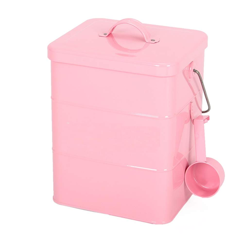 Tanque almacenamiento alimentos para perros almacenamiento sellado barril grano alimento para gatos caja a prueba humedad contenedor para mascotas caja de almacenamiento de mascotas barril,Pink,S: Amazon.es: Hogar