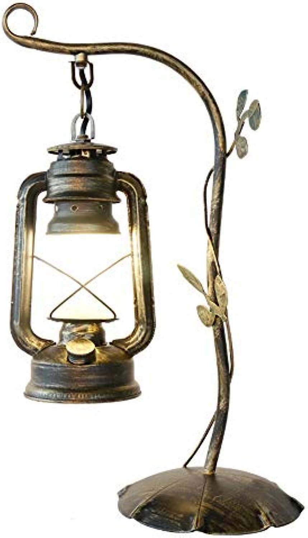 IMEFF Tischlampe Vintage, kreatives Schlafzimmer, dekorative Schreibtischlampe mit Nachttisch LED für Bar Studium Cafeteria Büro Hotel E27 Sockel Bulb
