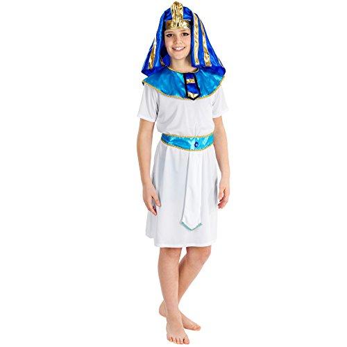 dressforfun Costume da bambino- Piccolo faraone | incl. Imponente copricapo da faraone con elastico e cintura (8-10 anni | no. 300380)