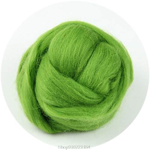 Qitao Wollfilz Mode Wolle Korridale Nadelfetting Top Roving Gefärbte Spinning Nasses Faserfaser N05 20 Dropshipping (Color : FG)