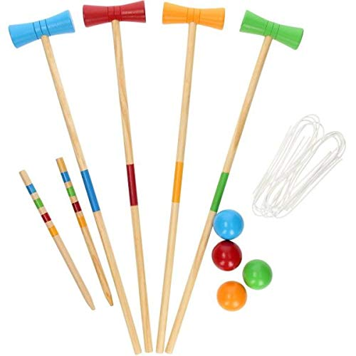 Parkland Kids Children's Juniors 4 Player Croquet Set, Classic Outdoor...