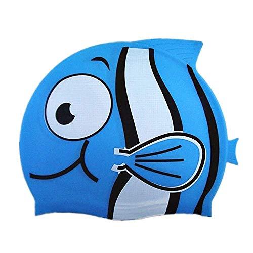 Legisdream Cuffia da Piscina per Bambini a Forma di Pesciolino Azzurro Divertente Accessorio Indispensabile Sport Nuoto