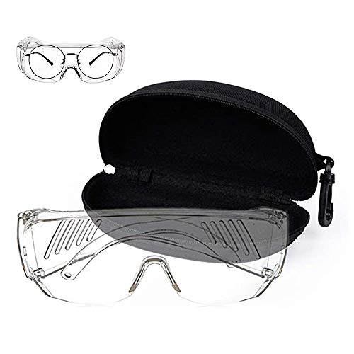 Safety Goggles Over Glasses, Splash Resistant Shooting Glasses Protective Eyewear, Light Weight Over Glasses Safety Glasses, for Chemical Lab