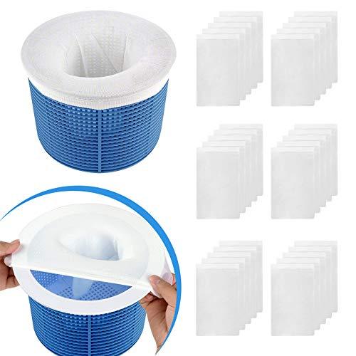 Aiglam Chaussette Skimmer, Filtre Jetable pour Skimmer Piscine & Spa Net Skim Nettoyage de Piscine Enlever Les Poils de Chien, Les Petites Particules (30pcs)