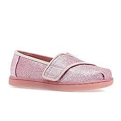 small TOMS Children Baby Girl Alpargata (Toddler / Toddler / Toddler) Ballet Pink Glitter 5 Toddler M.