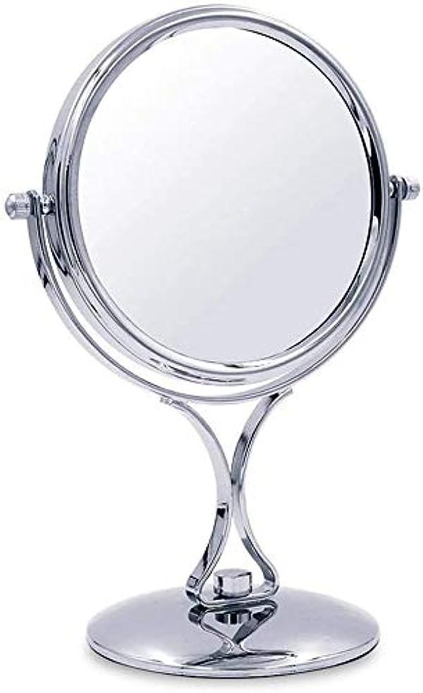 常習的アミューズメント不健康化粧鏡、デスクトップ両面化粧鏡ホーム美容化粧台ミラー回転高精細拡大鏡