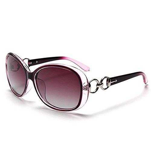 BLDEN Gafas de Sol Polarizadas Mujer, Moda Casual Estilo Gafas de Sol Oval Elegante UV 400 Protection