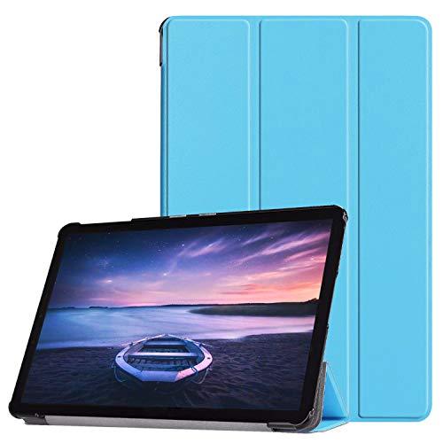 Lobwerk Hülle für Samsung Galaxy Tab S4 SM-T830 SM-T835 SM-T837 10.5 Zoll Schutzhülle Smart Cover Hülle mit Auto Sleep/Wake Hellblau