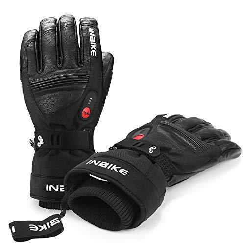 INBIKE Guanti Riscaldati da Sci Invernali Antivento e Impermeabile Touchscreen con Batteria Ricaricabile per Moto Snowboard e Ciclismo Sport Invernali (XL)