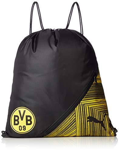 Puma BVB FtblCulture Gym Sack Sportbeutel, Black-Cyber Yellow, UA