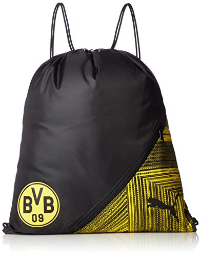 PUMA Unisex– Erwachsene BVB FtblCulture Gym Sack Turnbeutel, Black-Cyber Yellow, UA