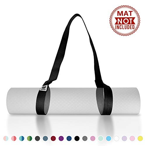 Tumaz Yoga Mat Strap, 2-in-1 Adjustable Sling - Mat Carrier & Stretching Strap  with Extra Thick, Durable and Comfy Delicate Texture [Mat NOT Included]