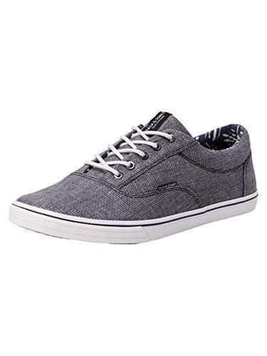 JACK & JONES Herren Jfwvision Textile Sneaker Anthracite Low-Top | Lässige Schuhe | AUS 100% LEINEN | 41
