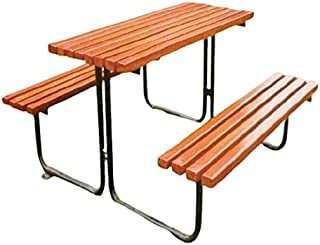 GOLDLAND Park Leisure Outdoor Chair and Bench Set SHA-171283 - H70cm x W150cm x D120cm