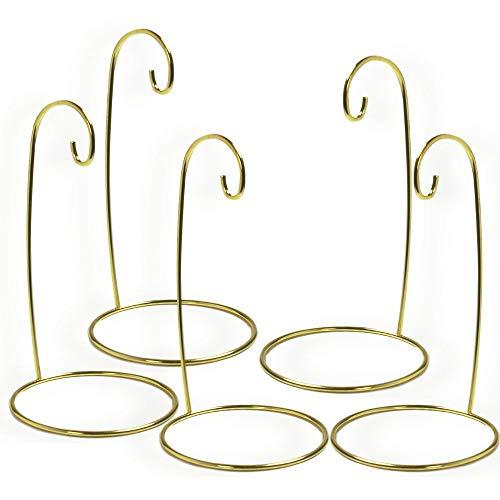 Weihnachten Ornament stehen–Set von 5Gold Metall Draht Ornament steht–Display Halter–17,8cm H