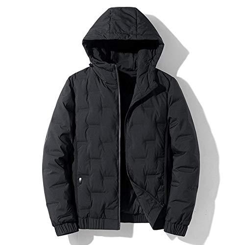 SUNY Coat Leichte Daunenjacke, Damen/Herren Warmer Parka, Mit Kapuze Wintermantel, Wasserabweisend, Winddicht Jacke,Schwarz,M