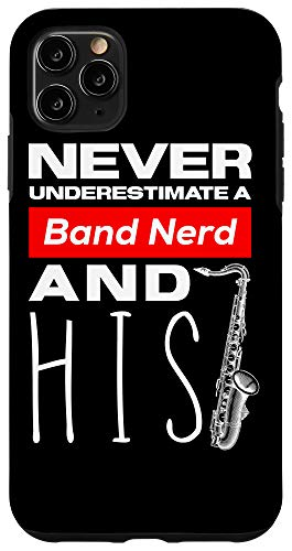 iPhone 11 Pro Max Funny Alto Saxophone Player Marching Band Case