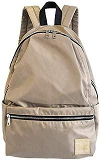 Fashion Handbag Backpack Waterproof Nylon Commuter Leisure Travel Backpack Bag (Color : Beige)